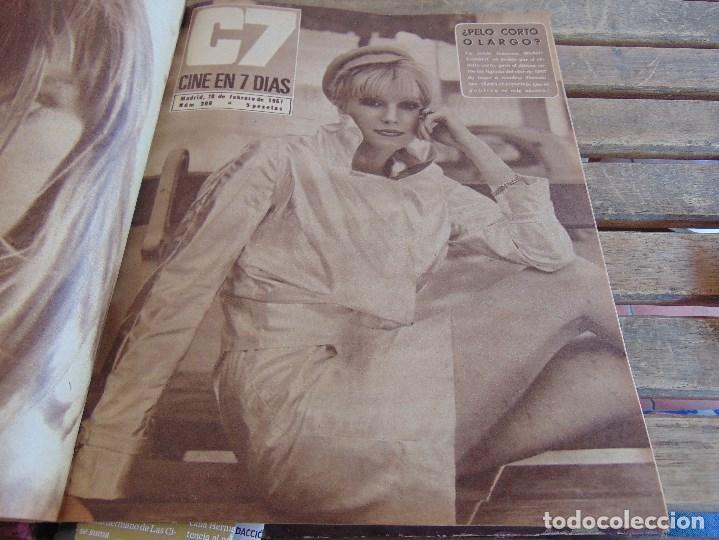 Cine: TOMO ENCUADERNADO DE LA REVISTA CINE EN 7 DIAS AÑO 1967 26 REVISTAS - Foto 6 - 131788186