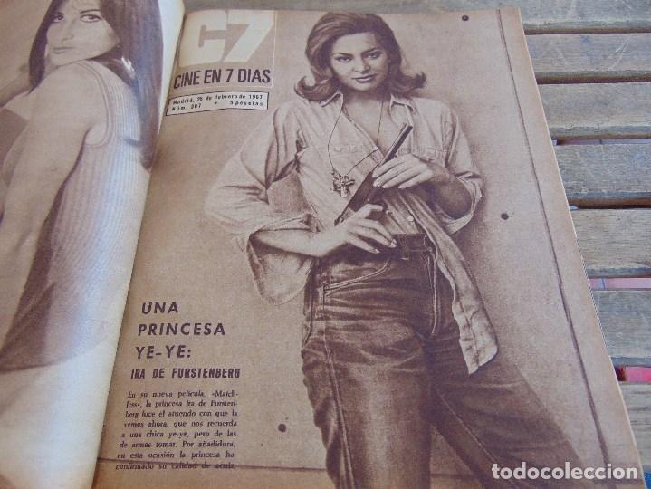 Cine: TOMO ENCUADERNADO DE LA REVISTA CINE EN 7 DIAS AÑO 1967 26 REVISTAS - Foto 7 - 131788186