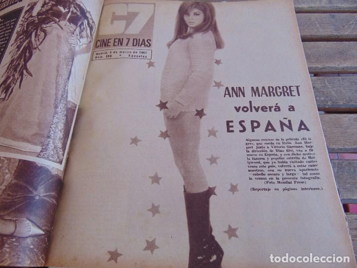 Cine: TOMO ENCUADERNADO DE LA REVISTA CINE EN 7 DIAS AÑO 1967 26 REVISTAS - Foto 8 - 131788186