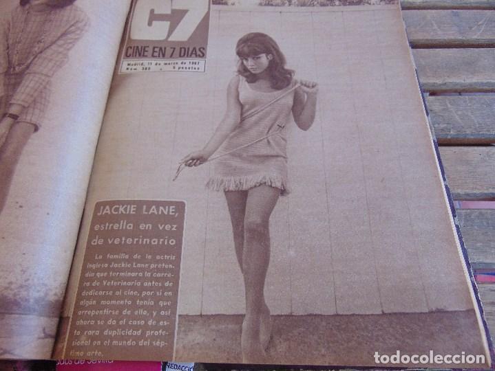 Cine: TOMO ENCUADERNADO DE LA REVISTA CINE EN 7 DIAS AÑO 1967 26 REVISTAS - Foto 9 - 131788186