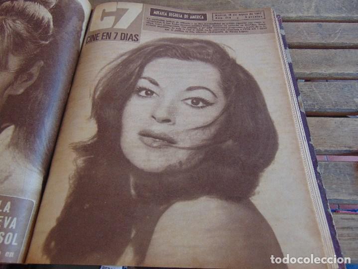 Cine: TOMO ENCUADERNADO DE LA REVISTA CINE EN 7 DIAS AÑO 1967 26 REVISTAS - Foto 10 - 131788186