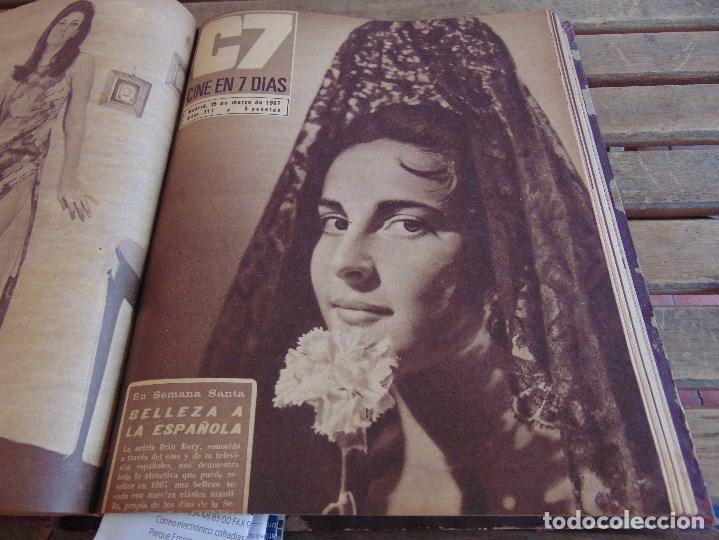 Cine: TOMO ENCUADERNADO DE LA REVISTA CINE EN 7 DIAS AÑO 1967 26 REVISTAS - Foto 11 - 131788186