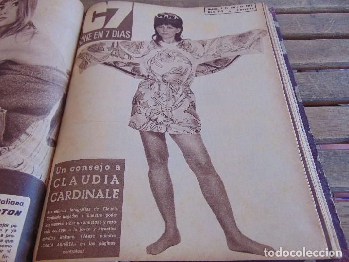 Cine: TOMO ENCUADERNADO DE LA REVISTA CINE EN 7 DIAS AÑO 1967 26 REVISTAS - Foto 13 - 131788186