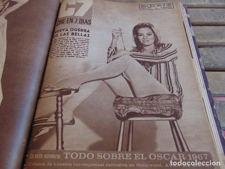 Cine: TOMO ENCUADERNADO DE LA REVISTA CINE EN 7 DIAS AÑO 1967 26 REVISTAS - Foto 15 - 131788186
