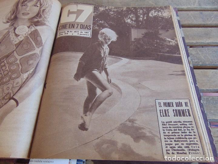 Cine: TOMO ENCUADERNADO DE LA REVISTA CINE EN 7 DIAS AÑO 1967 26 REVISTAS - Foto 16 - 131788186