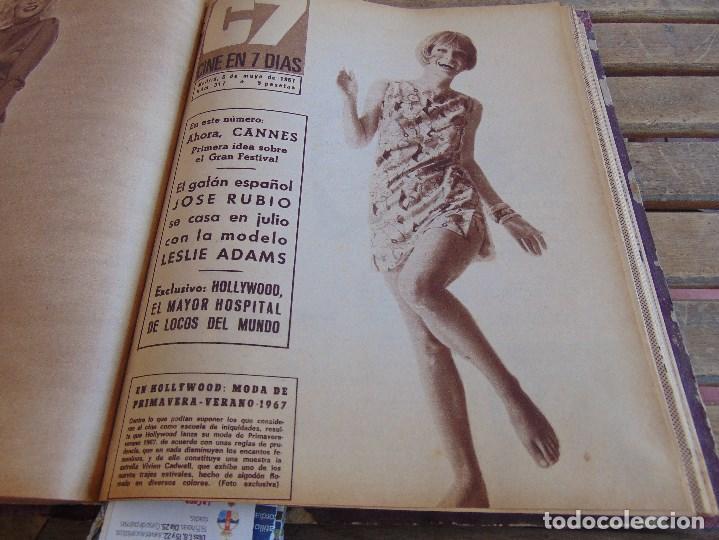 Cine: TOMO ENCUADERNADO DE LA REVISTA CINE EN 7 DIAS AÑO 1967 26 REVISTAS - Foto 17 - 131788186