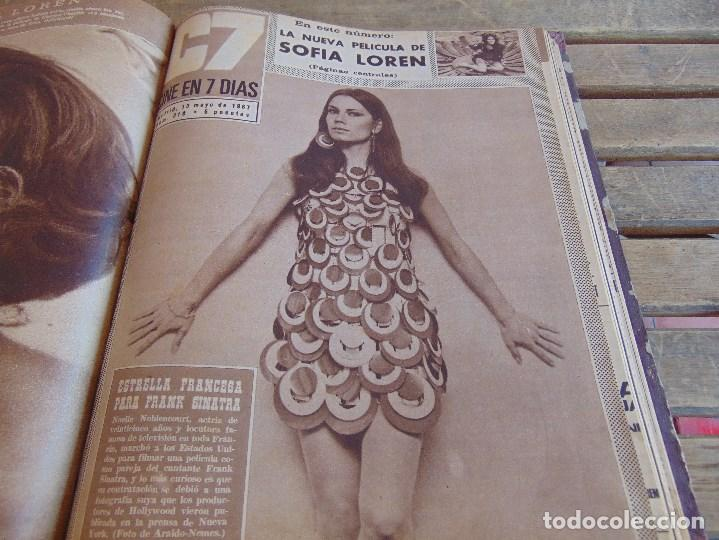 Cine: TOMO ENCUADERNADO DE LA REVISTA CINE EN 7 DIAS AÑO 1967 26 REVISTAS - Foto 18 - 131788186