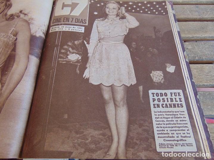 Cine: TOMO ENCUADERNADO DE LA REVISTA CINE EN 7 DIAS AÑO 1967 26 REVISTAS - Foto 19 - 131788186