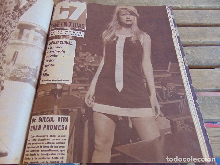 Cine: TOMO ENCUADERNADO DE LA REVISTA CINE EN 7 DIAS AÑO 1967 26 REVISTAS - Foto 20 - 131788186