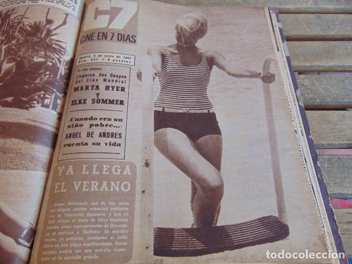 Cine: TOMO ENCUADERNADO DE LA REVISTA CINE EN 7 DIAS AÑO 1967 26 REVISTAS - Foto 21 - 131788186
