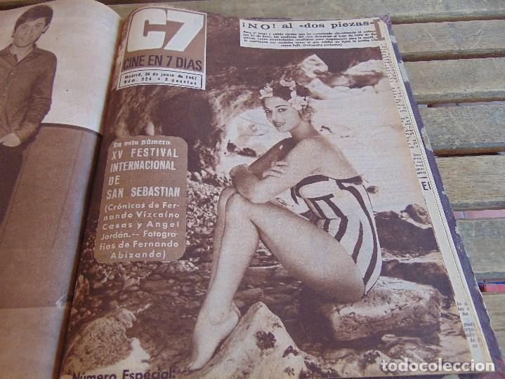 Cine: TOMO ENCUADERNADO DE LA REVISTA CINE EN 7 DIAS AÑO 1967 26 REVISTAS - Foto 24 - 131788186