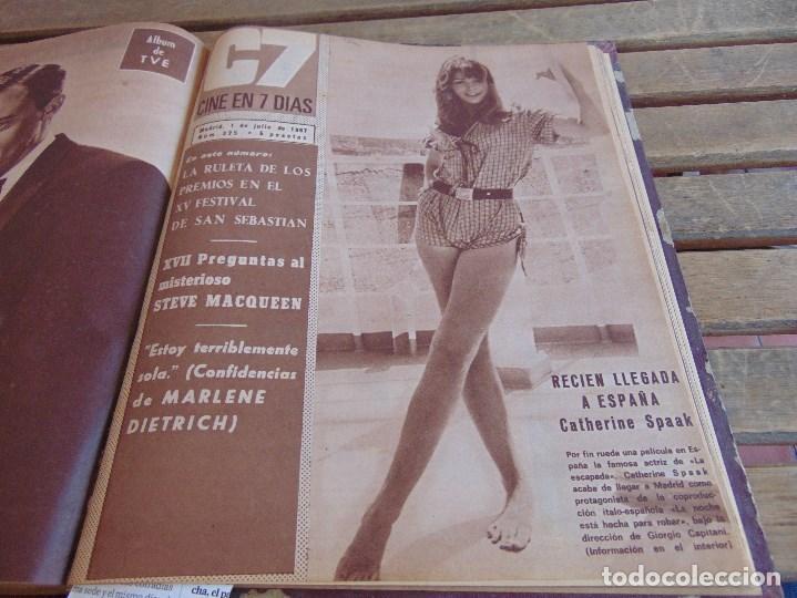 Cine: TOMO ENCUADERNADO DE LA REVISTA CINE EN 7 DIAS AÑO 1967 26 REVISTAS - Foto 25 - 131788186