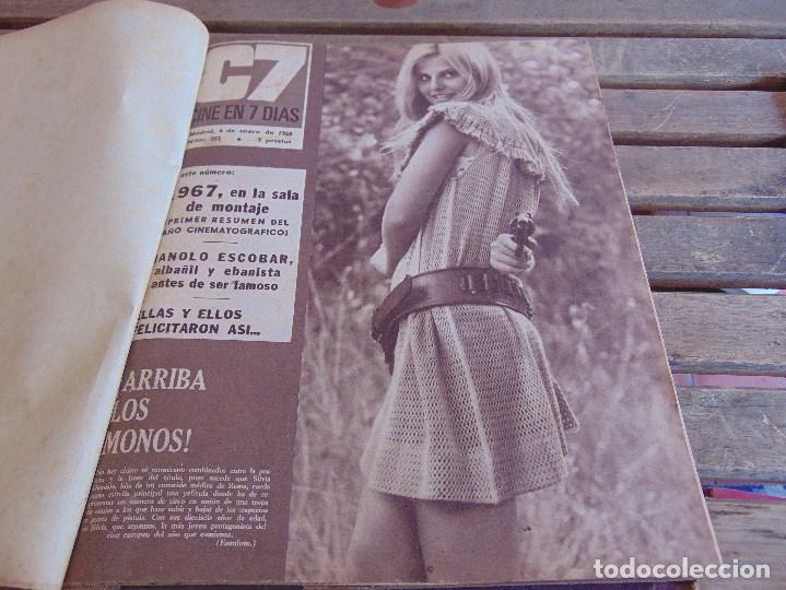 TOMO ENCUADERNADO DE LA REVISTA CINE EN 7 DIAS AÑO 1968 25 REVISTAS (Cine - Revistas - Cine en 7 dias)