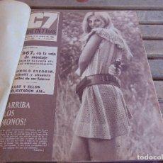 Cine: TOMO ENCUADERNADO DE LA REVISTA CINE EN 7 DIAS AÑO 1968 25 REVISTAS. Lote 131788390