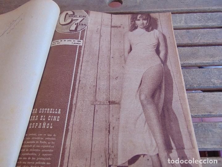 TOMO ENCUADERNADO DE LA REVISTA CINE EN 7 DIAS AÑO 1966 24 REVISTAS (Cine - Revistas - Cine en 7 dias)