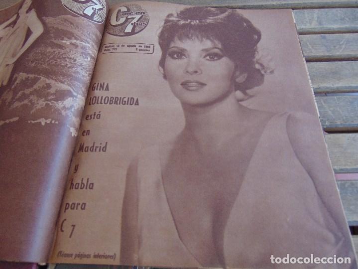 Cine: TOMO ENCUADERNADO DE LA REVISTA CINE EN 7 DIAS AÑO 1966 24 REVISTAS - Foto 3 - 131788610
