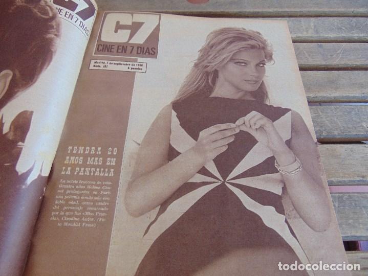 Cine: TOMO ENCUADERNADO DE LA REVISTA CINE EN 7 DIAS AÑO 1966 24 REVISTAS - Foto 6 - 131788610