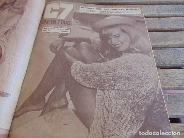 Cine: TOMO ENCUADERNADO DE LA REVISTA CINE EN 7 DIAS AÑO 1966 24 REVISTAS - Foto 7 - 131788610