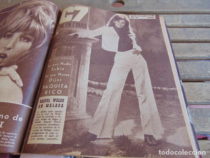 Cine: TOMO ENCUADERNADO DE LA REVISTA CINE EN 7 DIAS AÑO 1966 24 REVISTAS - Foto 9 - 131788610