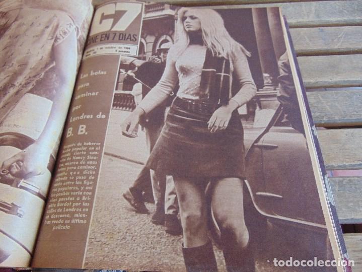 Cine: TOMO ENCUADERNADO DE LA REVISTA CINE EN 7 DIAS AÑO 1966 24 REVISTAS - Foto 10 - 131788610