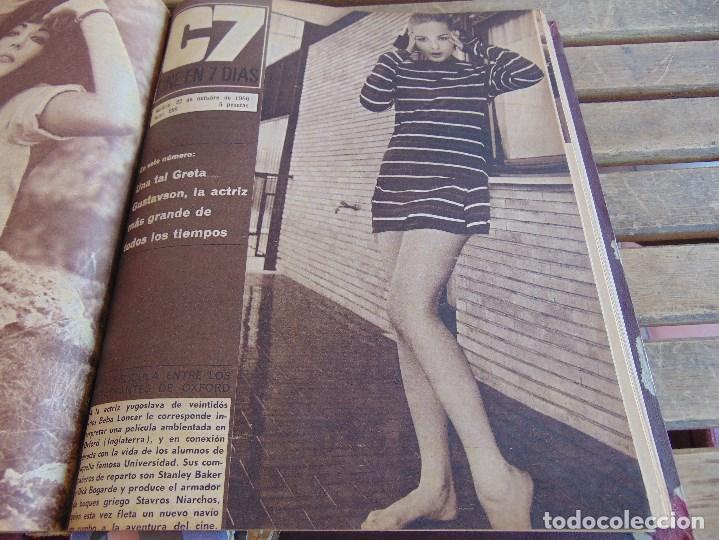 Cine: TOMO ENCUADERNADO DE LA REVISTA CINE EN 7 DIAS AÑO 1966 24 REVISTAS - Foto 13 - 131788610