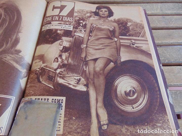 Cine: TOMO ENCUADERNADO DE LA REVISTA CINE EN 7 DIAS AÑO 1966 24 REVISTAS - Foto 15 - 131788610