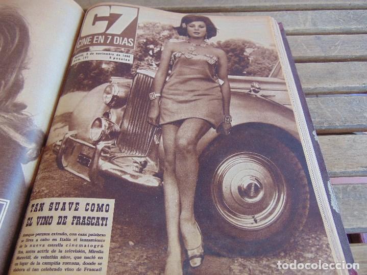 Cine: TOMO ENCUADERNADO DE LA REVISTA CINE EN 7 DIAS AÑO 1966 24 REVISTAS - Foto 16 - 131788610