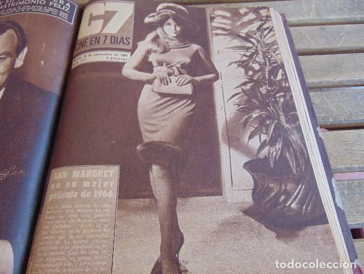 Cine: TOMO ENCUADERNADO DE LA REVISTA CINE EN 7 DIAS AÑO 1966 24 REVISTAS - Foto 17 - 131788610