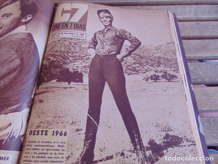 Cine: TOMO ENCUADERNADO DE LA REVISTA CINE EN 7 DIAS AÑO 1966 24 REVISTAS - Foto 18 - 131788610