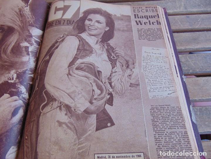 Cine: TOMO ENCUADERNADO DE LA REVISTA CINE EN 7 DIAS AÑO 1966 24 REVISTAS - Foto 19 - 131788610