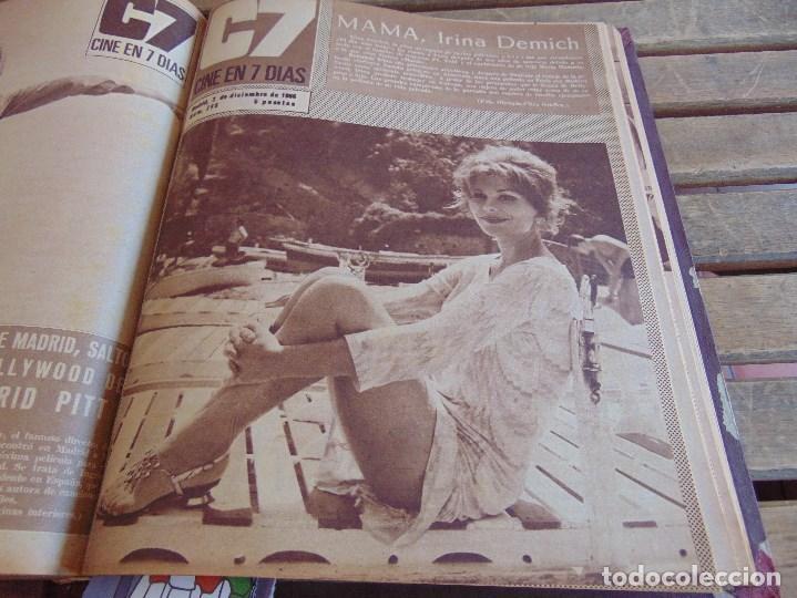 Cine: TOMO ENCUADERNADO DE LA REVISTA CINE EN 7 DIAS AÑO 1966 24 REVISTAS - Foto 20 - 131788610