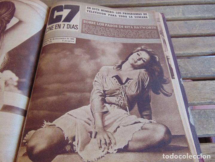 Cine: TOMO ENCUADERNADO DE LA REVISTA CINE EN 7 DIAS AÑO 1966 24 REVISTAS - Foto 21 - 131788610