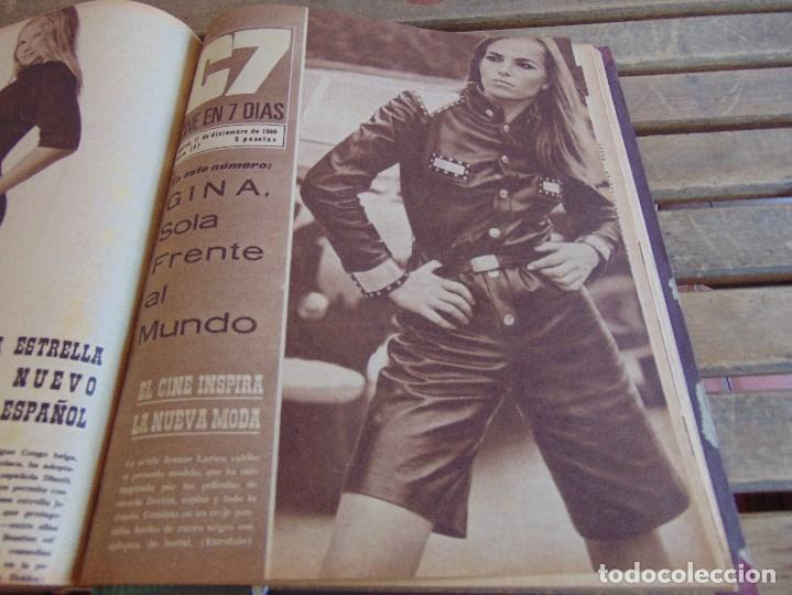 Cine: TOMO ENCUADERNADO DE LA REVISTA CINE EN 7 DIAS AÑO 1966 24 REVISTAS - Foto 22 - 131788610