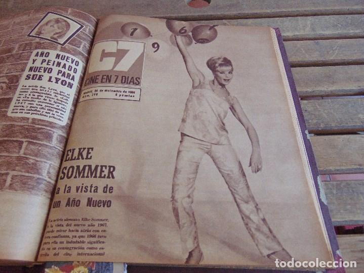 Cine: TOMO ENCUADERNADO DE LA REVISTA CINE EN 7 DIAS AÑO 1966 24 REVISTAS - Foto 23 - 131788610