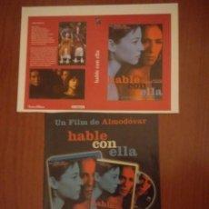 Cine: RECORTES PRENSA CINE DE ALMODOVAR HABLE CON ELLA+CARATULA.ROSARIO FLORES. Lote 132176846