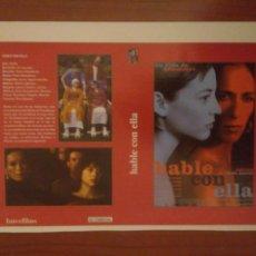 Cine: RECORTE CINE ALMODOVAR HABLE CON ELLA.CARATULA.ROSARIO FLORES. Lote 132176885