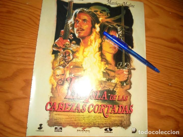 PUBLICIDAD PELICULA : LA ISLA DE LAS CABEZAS CORTADAS. GEENA DAVIS. CINEMANIA, DICBRE 1995 (Cine - Revistas - Cinemanía)