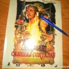 Cine: PUBLICIDAD PELICULA : LA ISLA DE LAS CABEZAS CORTADAS. GEENA DAVIS. CINEMANIA, DICBRE 1995. Lote 132232438