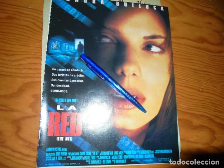 PUBLICIDAD PELICULA : LA RED. SANDRA BULLOCK . CINEMANIA, DICBRE 1995 (Cine - Revistas - Cinemanía)