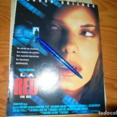Cine: PUBLICIDAD PELICULA : LA RED. SANDRA BULLOCK . CINEMANIA, DICBRE 1995. Lote 132232490