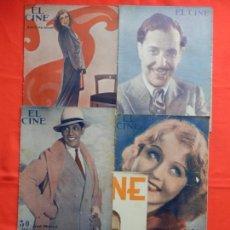 Cine: EL CINE, 5 REVISTAS, JEANETTE MACDONALD, ERNESTO VILCHES, JOSE MÓJICA,NANCY CARROLL, R. GOLMAN. Lote 132499666