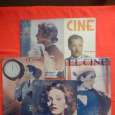 Cine: EL CINE, 5 REVISTAS, GRACE MORE,RONALD GOLMAN, NORMA SHEARER, MARLENE DIETRICH, JOSE MOJICA. Lote 132500194