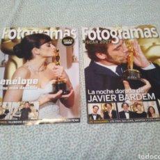 Cine: 2 SUPLEMENTOS FOTOGRAMAS, JAVIER BARDEN OSCAR 2007 Y PENELOPE OSCAR 2008. Lote 132585158