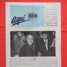 Cine: AQUÍ MERCURIO FILMS, REVISTA DE 1957, PUERTA DE LAS LILAS, 8 PÁGINAS. Lote 132891302