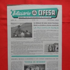 Cinema: NOTICIARIO CIFESA, NÚM. 18, OCTUBRE 1960, LA PAZ EMPIEZA NUNCA...4 PÁGINAS.. Lote 132897726