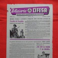 Cine: NOTICIARIO CIFESA, NÚM. 19, ABRIL 1961,CAZADOR DE FORAJIDOS...4 PÁGINAS. Lote 132897934