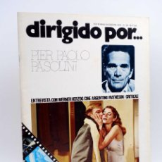 Cine: REVISTA DE CINE DIRIGIDO POR… 28. PIER PAOLO PASOLINI / HERZOG / MATHESON (VVAA), 1975. Lote 133229418