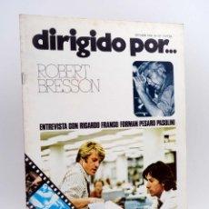 Cine: REVISTA DE CINE DIRIGIDO POR… 37. ROBERT BRESSON / RICARDO FRANCO / FORMAN / PASOLINI (VVAA), 1976. Lote 143398510