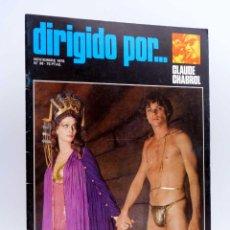 Cine: REVISTA DE CINE DIRIGIDO POR… 38. CLAUDE CHABROL / ROGER CORMAN / PATINO / WALSH (VVAA), 1976. Lote 143398513