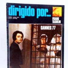 Cine: REVISTA DE CINE DIRIGIDO POR… 45. FRANK TASHLIN / CANNES 77 / SAURA (VVAA), 1977. Lote 133229558